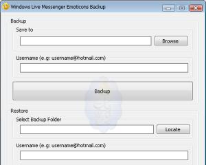 شرح أخذ نسخة احتياطية من ملفاتك الخاصة في مسنجرك ببرنامج Windows Live Messenger Emoticons Backup