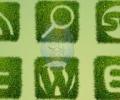 12 أيقونة لمختلف مواقع الشبكات الاجتماعية مصممة بنمط عشبي