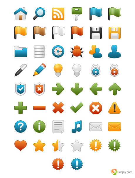 حزمة الأيقونات مجانية free icon لمصممي ومطوري المواقع